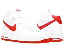 Nike Air Force 1 One Mid 07 White Varsity Red Uptowns 315123 108 Mens Shoe