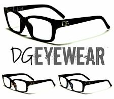 DG CLEAR LENS MEN WOMEN READING GLASSES NERD GEEK SMART HIPSTER SWAG EYEGLASSES