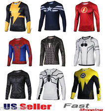Superhero Costume Tee Spiderman Captain America Superman T-Shirt Sports Jersey