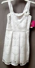 NWT IZ BYER GIRL WHITE LACE OVERLAY PLEATED SKIRT DRESS-GIRLS SIZE 8, 10 & 12