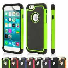 SHOCK PROOF CASE COVER FOR APPLE iPhone 4 5 6 (4.7) PLUS (5.5)+ SCREEN PROTECTOR