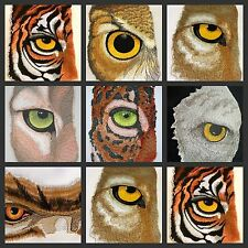 Eye Of Animal And Bird collection   Embroidered Iron On Patches