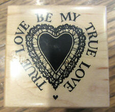 Psx Be My True Love E-1641 Romantic Heart Valentines Day Wooden Rubber Stamp
