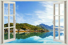 View WINDOW Waterfall 3D Window Wall Art Sticker Vinyl Decal Home Decor Mural