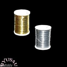 BEADING CRAFT WIRE 31 GAUGE BRASS 72 FEET GOLD or SILVER SPOOL
