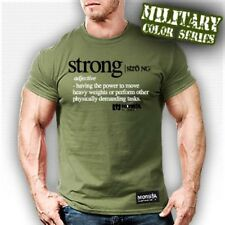 NEW Men's Monsta Clothing STRONG (definition tee) Bodybuilding Fitness T-Shirt