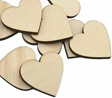 Crafting Supplies - 100 Laser cut wooden hearts