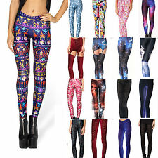 2014 Sexy Women Leggings 3D Galaxy Velvet Tights Pant Yoga Gym Funky