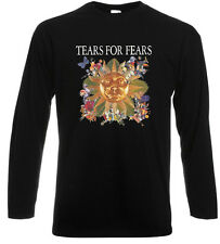 New TEARS FOR FEARS Roll Down Greatest Hits Long Sleeve Black T-Shirt S-3XL