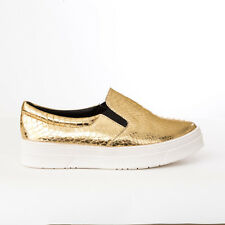 Trendy Must Have Slip-on Gold Snake Platform Sneakers Select your Size