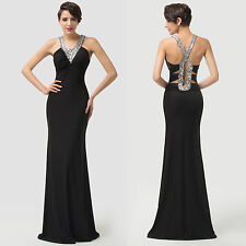 XMAS Discount~Long Formal Evening Party Gown Bridesmaid Prom Beaded Sexy Dresses