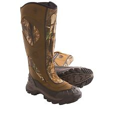 """17"""" Tall Waterproof Brown Leather Camo Hunting Shooting Boots New RRP £220"""