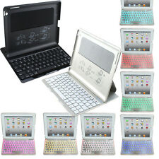 Wireless Bluetooth Keyboard Case Cover LED Backlight Keyboard For iPad 2 3 4