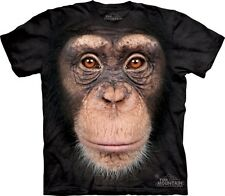 CHIMP MONKEY FACE ZOO SMALL-5XL T SHIRT THE MOUNTAIN NEW DESIGN