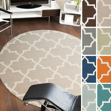 Artistic Weavers Hand-tufted Adam Moroccan Tiled Wool Rug (3'6 Round)