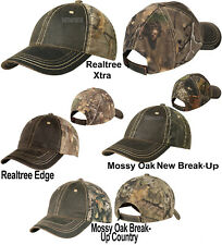 Mens Camo Baseball Cap Pigment Dyed Front Mossy Realtree Hat Hunting NEW!