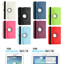 360 Rotating Leather Stand Case Cover For Samsung Galaxy Tablet 3 7.0 / 3 10.1