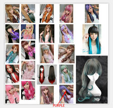 Full Wig Anime Cosplay Sexy Lady Girl Colorful Hair Daily Party NON-Mainstream
