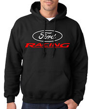 Ford Racing Red & White Logo Hoodie Nascar Hooded Sweatshirt NEW S,M,L,XL,2XL