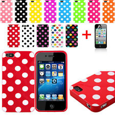New Polka Dot Pattern TPU Rubber Soft Case Cover Skin For iPhone 4G 4S