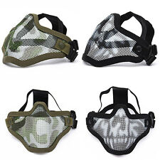 Tactical Half Face Protective Gear Metal Mesh Mask For Airsoft Paintball Hunting