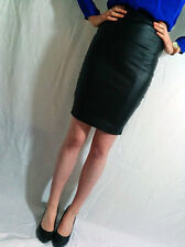 ♥New TOPSHOP Black Sexy Faux Leather Pencil Skirt Size 6 8 10 12 14 16 RRP £45♥