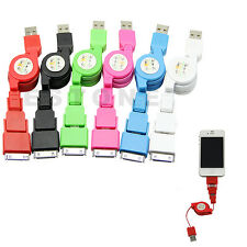 Mini 3 in1 Retractable Micro USB Sync Charger Cable For iPhone 4S 5 Micro USB