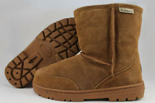 "BEARPAW PATRIOT SHORT 7"" BOOT HICKORY BROWN SHEEPSKIN LUG SOLE DREAM MENS SIZES"