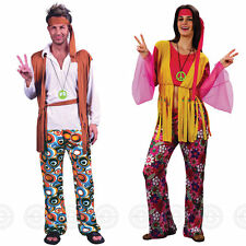 MENS / WOMENS ADULT HIPPY GROOVEY FANCY DRESS OUTFIT 60s 70s WOODSTOCK COSTUME