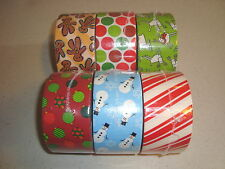 Christmas Holiday Patterned Duck Brand Duct Tape -- 5 Choices