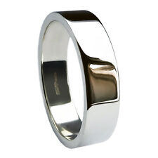 8mm 925 Sterling Silver Hallmarked 7.9 - 8.7g Flat Profile Wedding Band Ring