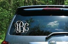 "CUSTOM MONOGRAM VINYL CAR DECAL 6"" INCHES ~ CHOOSE THE COLOR! ~ STICKER"