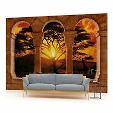 African Sunset View Through Arches  PHOTO WALLPAPER WALL MURAL ROOM DECOR (770P)