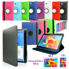"Rotating PU Leather Case Cover for Samsung Galaxy Tab 4 7.0 7 / Tab 4 10.1"" New"