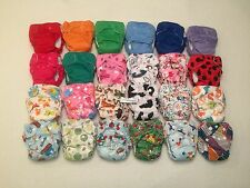 12 Happy Flute AIO Newborn Cloth Diaper with Double Gussets. Like THX/Lil Joey's