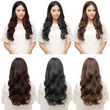 Long Straight Curly 5 Clips in Hair Extensions Superb Hairpiece - FREE Shipping