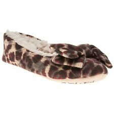 New Womens Ruby And Ed Multi Ballerina Textile Slippers Animal Slip On