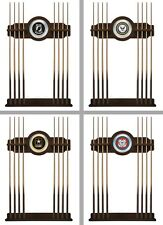 Choose Your US Military Branch 2PC Navajo Wood Finish & Mirror Billiard Cue Rack