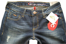NEU EDC BY ESPRIT DAMEN JEANS USED-JEANS STRETCH FIVE STRAIGHT SLIM FIT