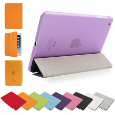 Ultra Slim For Apple iPad Magnetic PU Leather Hard Case lot Smart Cover