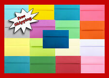 50 Boxed Multi Colored Assorted Envelopes for Response Greeting Cards A2 A6 A7