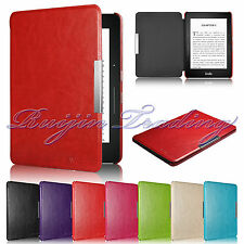 Slim Book Style Leather Cover Case For 2014 Amazon Kindle Voyage Auto Wake/Sleep