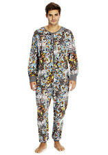 new MENS IRON MAN marvel comics onesie  all in ONE piece S - XL COSTUME jumpsuit
