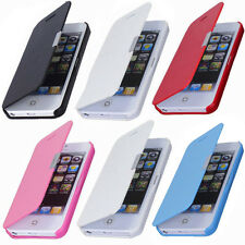 Magnetic Pouch Flip Leather Hard Skin Case Cover Protect For Apple iPhone 4S 5S
