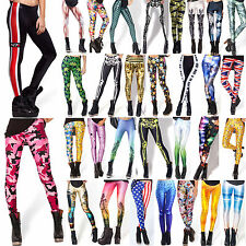 2015 Sexy Lady Pattern Print Women Stretch Colorful Tights Pencil Skinny Pants