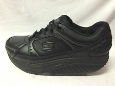 Women's SKECHERS Maisto-76557/BLK-Slip Resistant-Work Shape Ups Athletics-New!