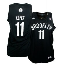 Brook Lopez #11 ADIDAS Brooklyn Nets (Black) Replica Jersey Women's Medium