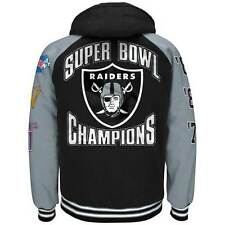 Oakland Raiders 3 Time Super Bowl Champs Commemorative Sideline  Jacket By G-III