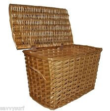 Wicker Log Basket Log Holder Laundry Basket Toy Box Wicker Hamper 2 SIZES