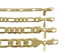 18 KT Gold Overlay Figaro Chain Necklace/Bracelet Made in USA -LIFETIME WARRANTY